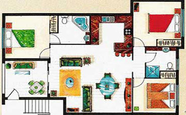 Central Plaza Port Douglas Three Bedroom Apartment Floorplan